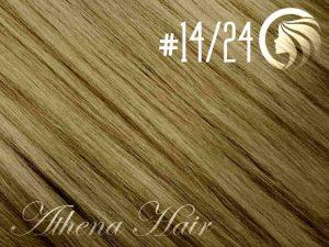 #14/24 Dark Blonde/Golden Blonde – 18″ – 1 gram – uTip – Athena (25 strands per packet)