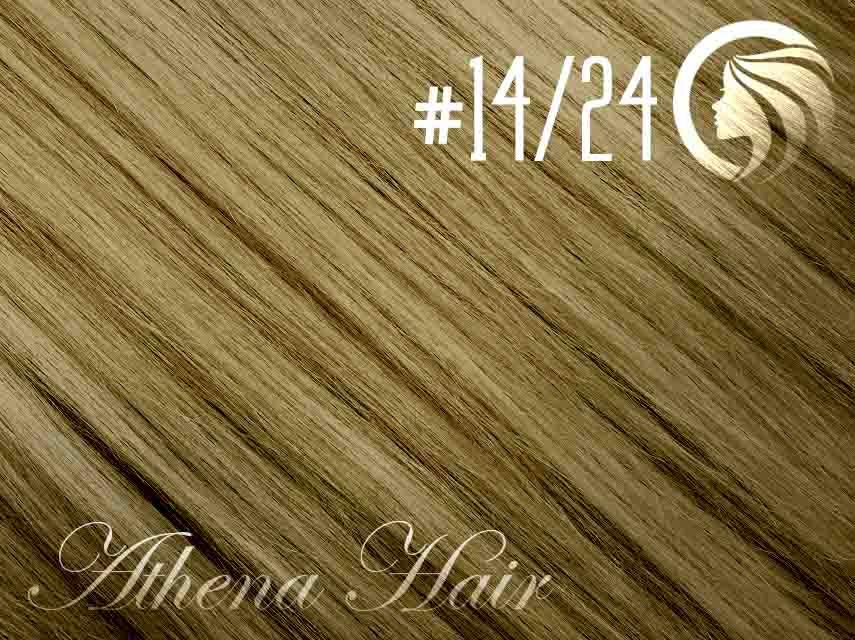 #14/24 Dark Blonde/Golden Blonde – 18″ – 1 gram – iTip – Athena (25 strands per packet)