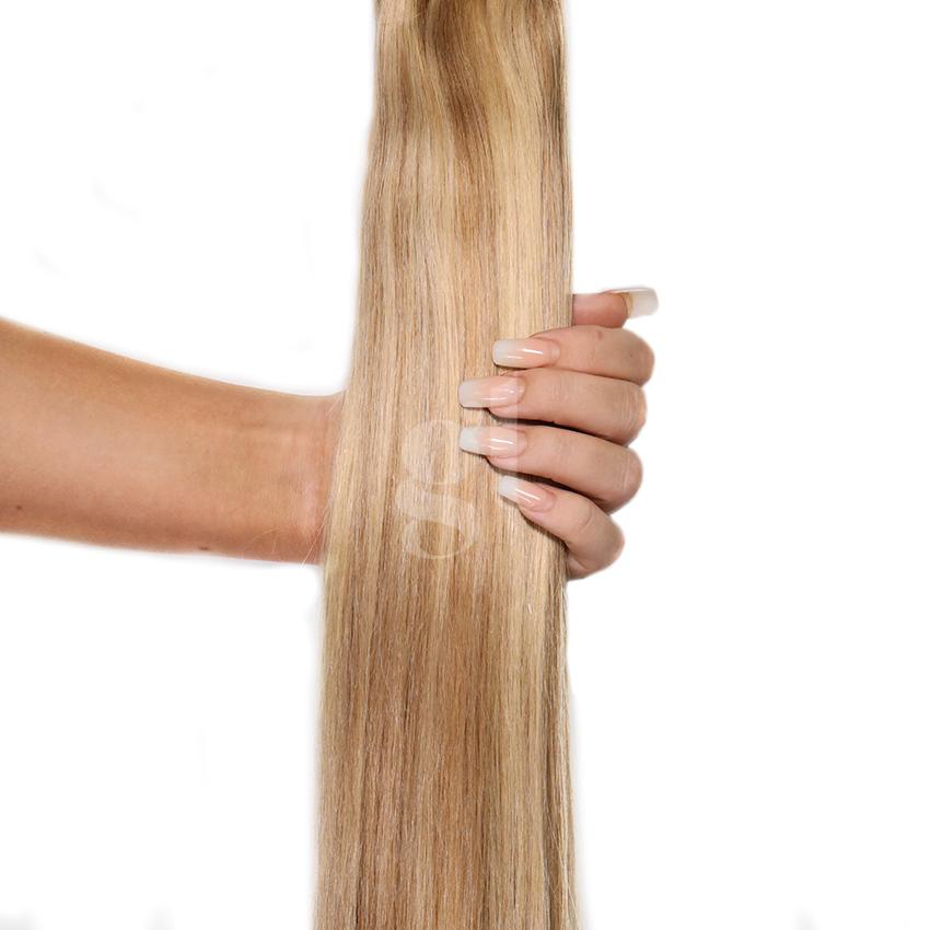 #14/24 Dark Blonde/Golden Blonde – 22″ – 60g – 24 Pieces – Athena Tape Hair