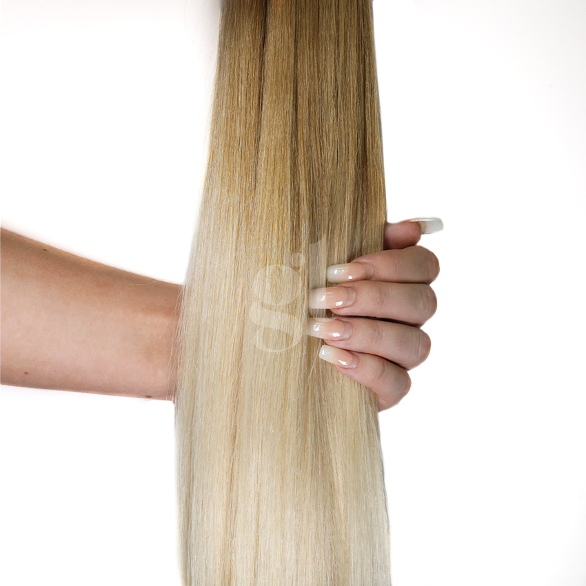 #16T62 Beige Blonde/Light Ash Blonde – 22″ – 60g – 24 Pieces – Athena Tape Hair