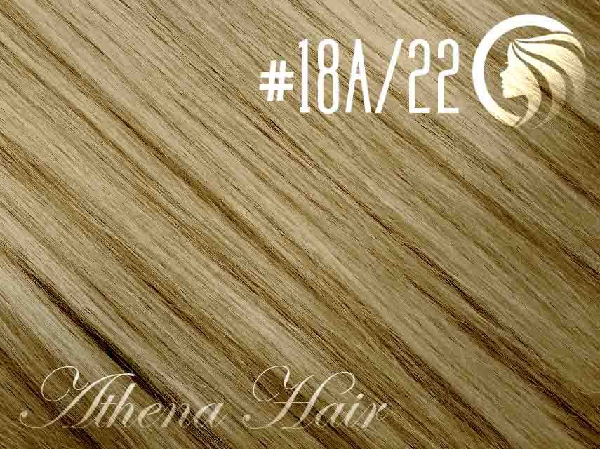 #18A/22 Ash Honey Blonde/Light Neutral Blonde – 18″ – 60 gram – 24 Pieces – Athena Tape Hair