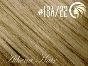 #18A/22 Ash Honey Blonde/Light Neutral Blonde – 18″ – 1 gram – uTip – Athena (25 strands per packet)