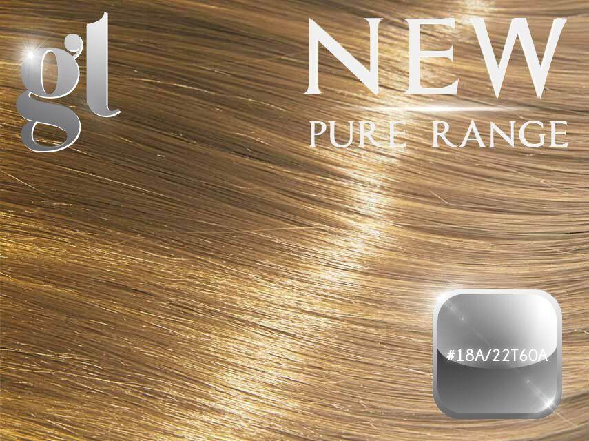 #18A/22T60A Miami Ash Blonde - Nano tip – 18″ - 1 gram – Pure Range Balayage (50 Strands)