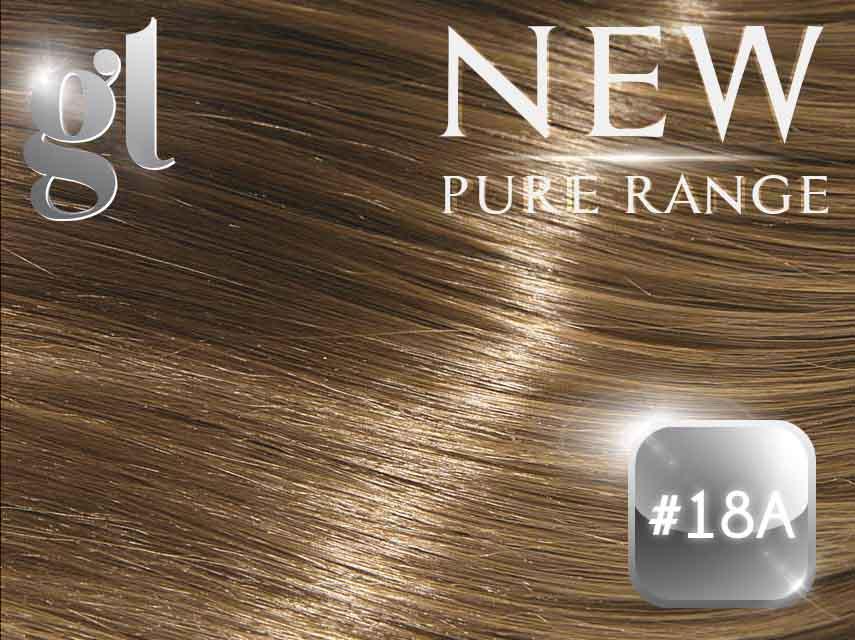 #18A Ash Honey Blonde – 18″ – 1 gram – uTip – Pure Range (50 strands)
