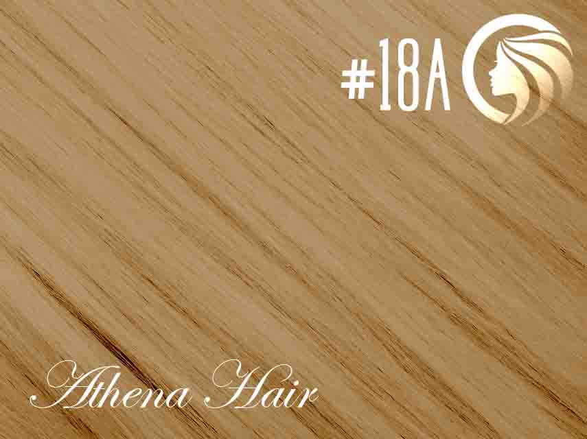 #18A Ash Honey Blonde – 18″ – 60 gram – 24 Pieces – Athena Tape Hair