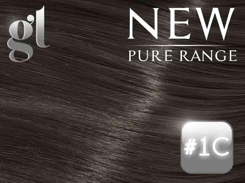 #1C Espresso Brown – 20″ - 0.8 gram – iTip - Pure Range (25 Strands)
