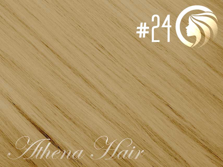 *NEW* #24 Golden Blonde  – 18″ – 120g – 5 Pieces – Clip Ins Athena Range