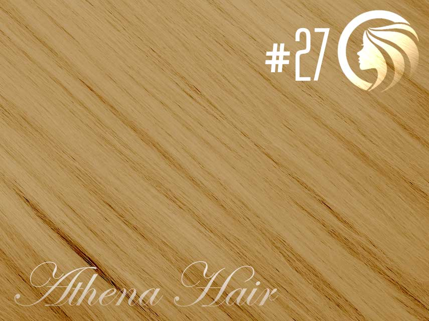 *NEW* #27 Strawberry Blonde – 18″ – 120g – 5 Pieces – Clip Ins Athena Hair