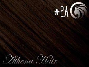 #2A Dark Ash Brown – 18″ – 1 gram – Nano Tip – Athena (25 strands)