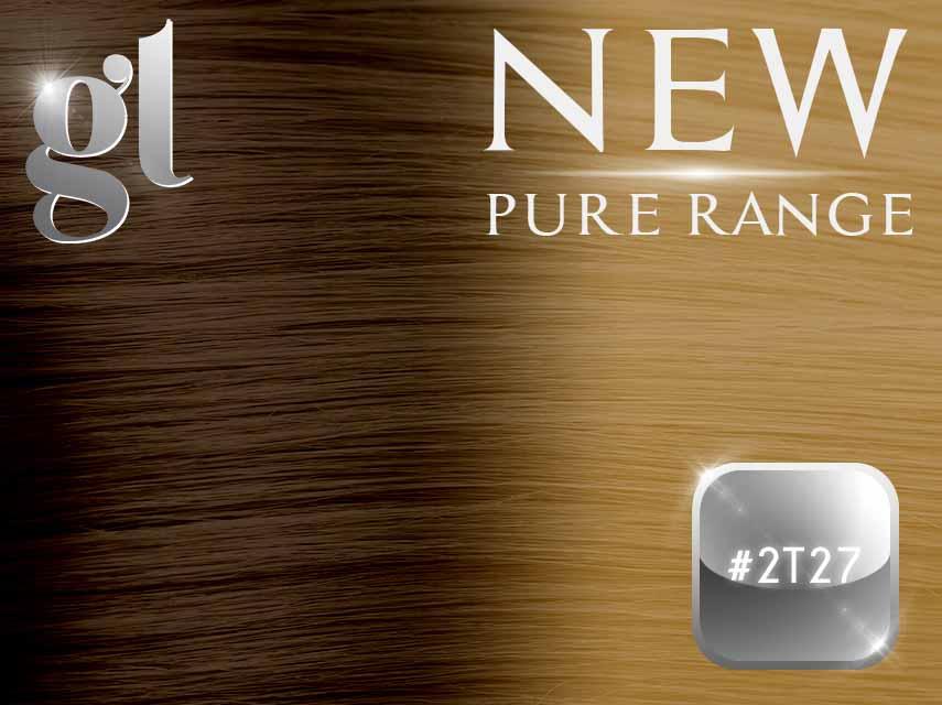 #2T27 Dark Brown/Strawberry Blonde - Nano tip - 20″ - 0.8 gram – Pure Range Ombre (25 Strands)