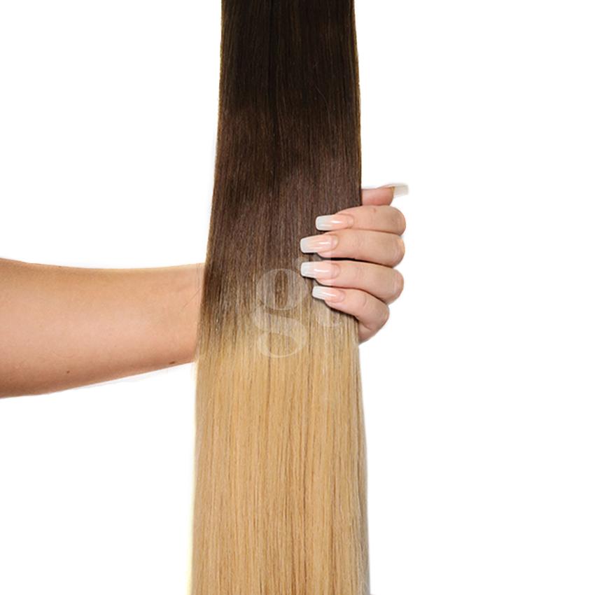 #2T27 Dark Brown/Strawberry Blonde – 22″ – 60g – 24pcs – Athena Tape Hair