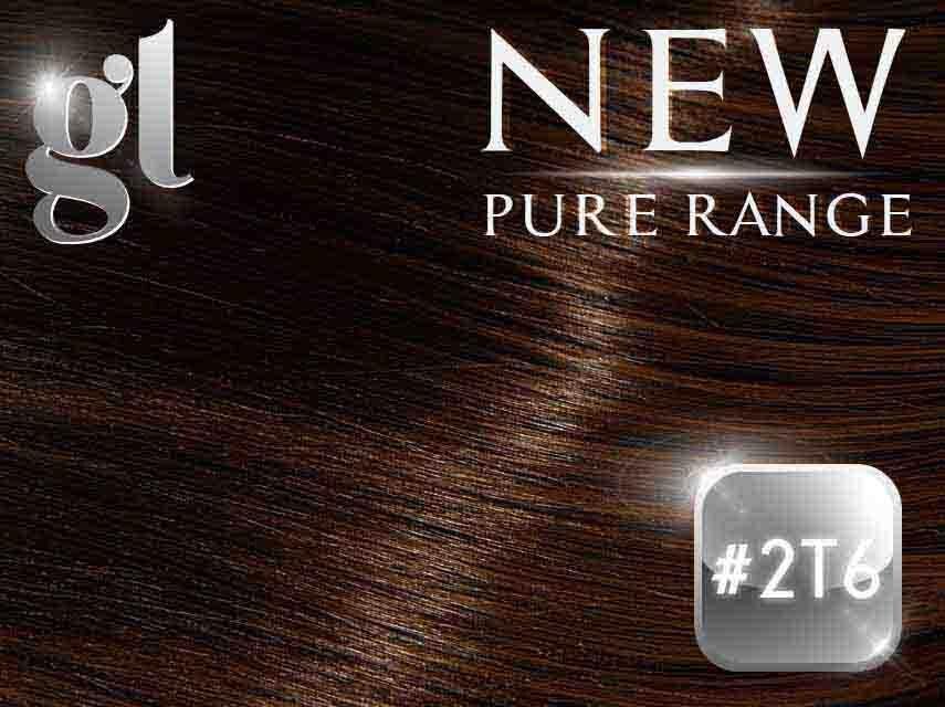 #2T6 Dark Brown/Brown – 20″ - 0.8 gram – uTip - Pure Range Ombre (25 Strands)