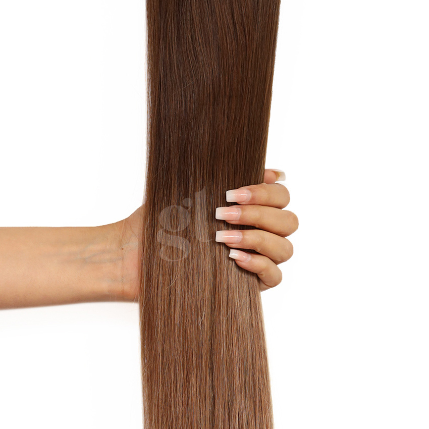#2T6 Dark Brown/Brown – 18″ – 0.5g – iTip – Athena (50 strands)
