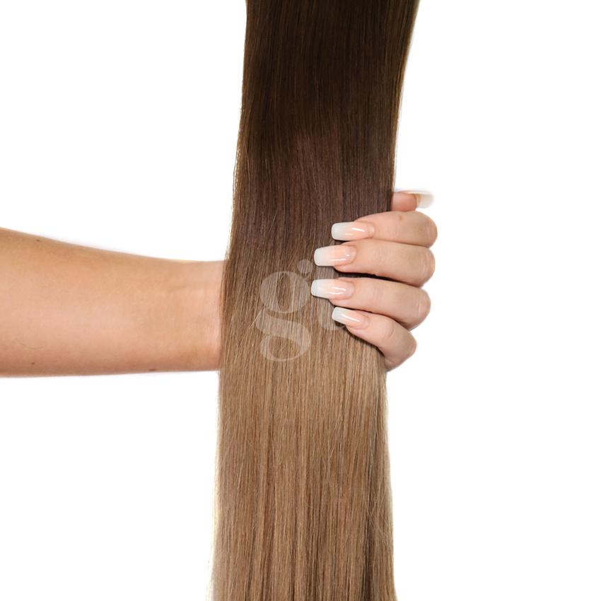#2T8 Dark Brown/Medium Brown - 22″ – 60g – 24 Pieces – Athena Tape Hair