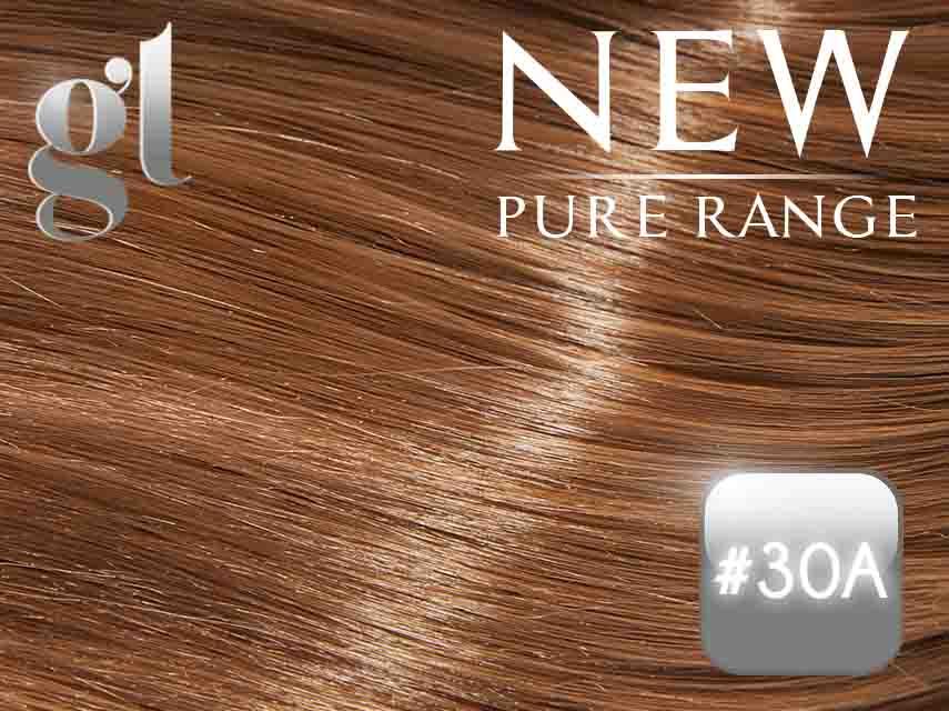#30A Copper Brown - Nano tip – 20″ - 0.8 gram – Pure Range (25 Strands)