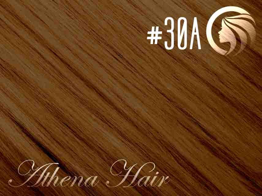 #30A Copper Brown – 18″ – 1 gram – iTip – Athena (25 strands per packet)
