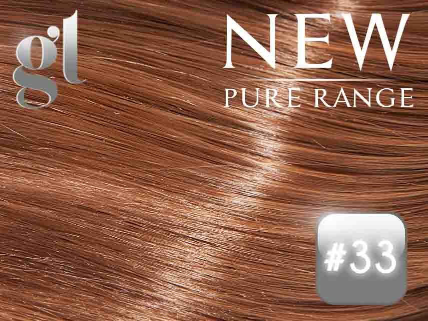 #33 Copper Red - Nano tip – 20″ - 0.8 gram – Pure Range (25 Strands)