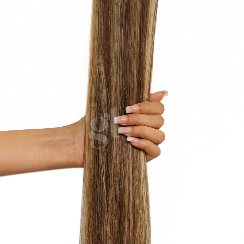 #4/18 Chocolate Brown/Honey Blonde – 18″ – 0.5g – uTip – Athena (50 strands)