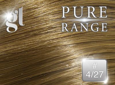 #4/27 Chocolate Brown/Strawberry Blonde - Nano tip – 20″ - 0.8 gram – Pure Range Highlight (25 Strands)