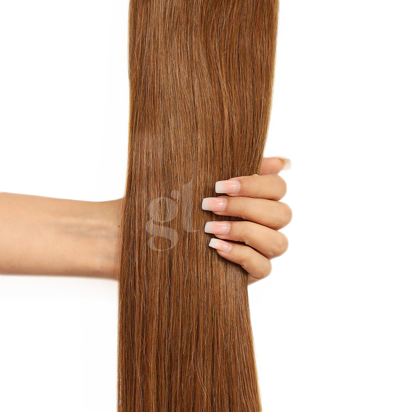 #4 Chocolate Brown – 18″ – 0.5g – iTip – Athena (50 strands)