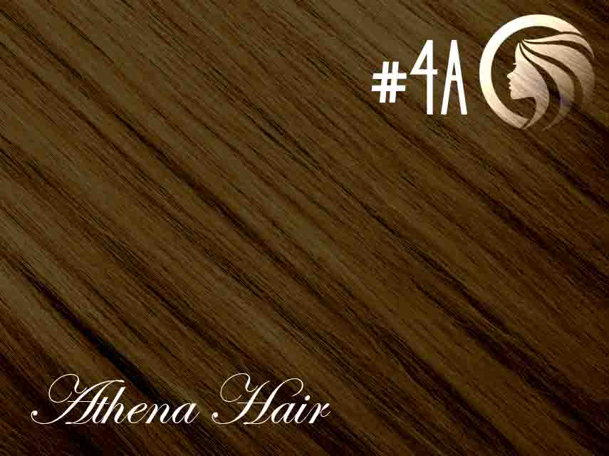 *NEW* #4A Ash Chocolate Brown – 18″ – 120g – 5 Pieces – Clip Ins Athena Hair