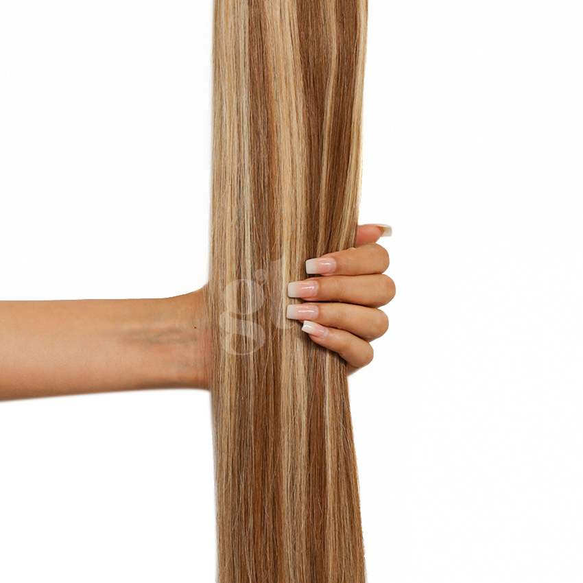 #4A/27 Ash Chocolate Brown/Strawberry Blonde – 22″ – 60 gram – 24 Pieces – Athena Tape Hair
