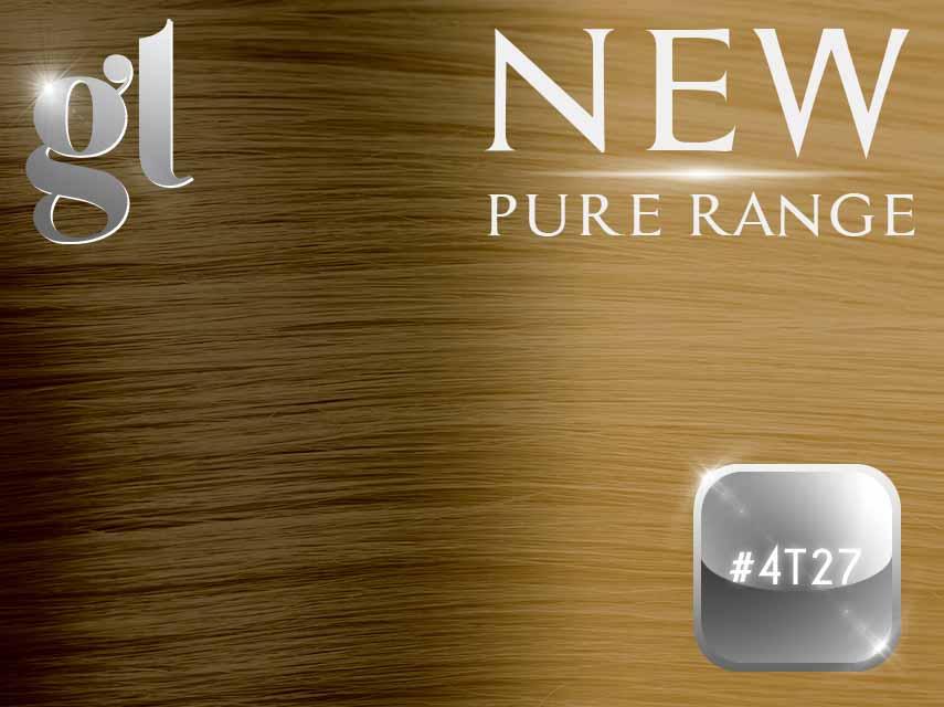 #4T27 Chocolate Brown/Strawberry Blonde - Nano tip – 20″ - 0.8 gram – Pure Range Ombre (25 Strands)