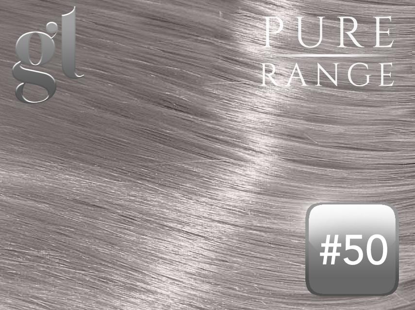 #50 Light Silver Grey - Nano Tip – 20″ - 0.8 gram – Pure Range (25 Strands)