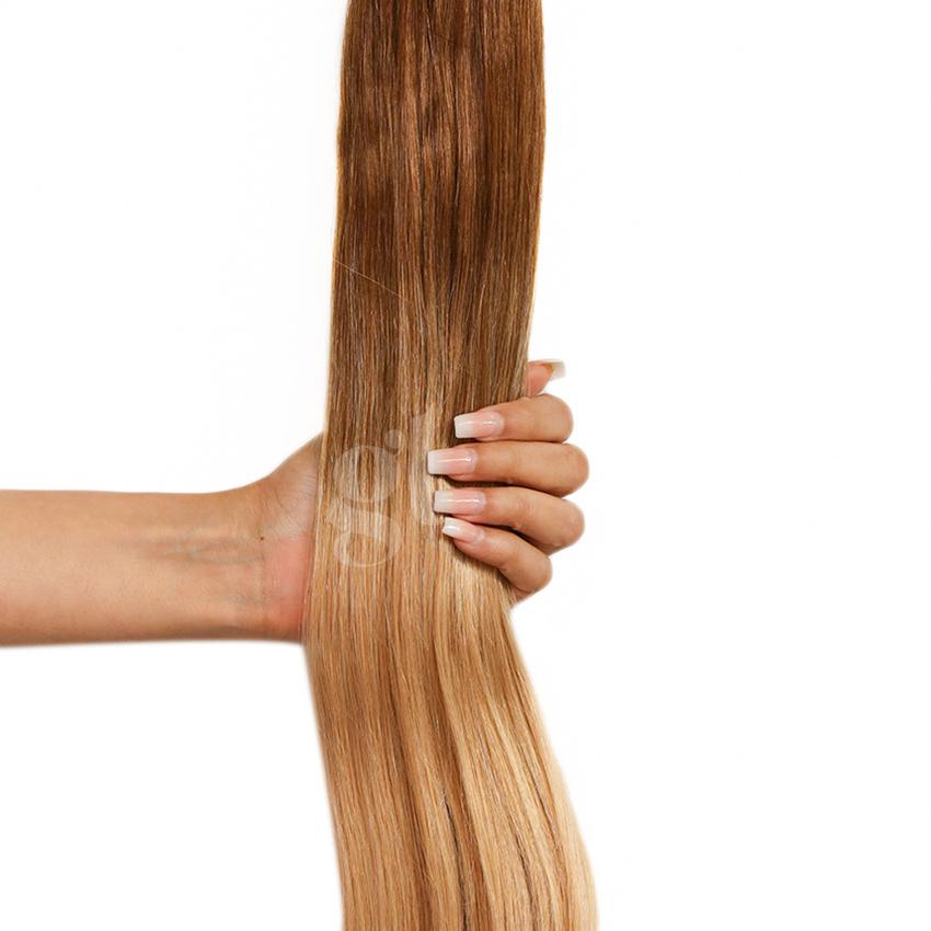 #5T27 Medium Ash Brown/Strawberry Blonde - 18″ – 1g – uTip – Athena (25 strands)
