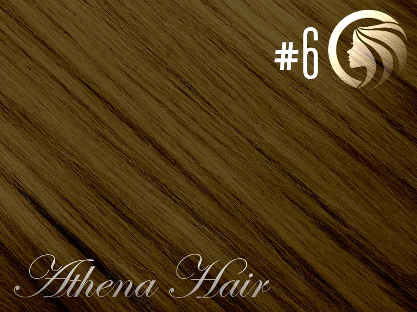 *NEW* #6 Brown – 18″ – 120g – 5 Pieces – Clip Ins Athena Hair