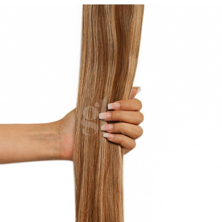 *NEW* #6/22 Brown/Light Neutral Blonde – 22″ – 60g – 24 Pieces – Athena Tape Hair