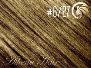 #6/27 Brown/Strawberry Blonde – 18″ – 1 gram – Nano Tip – Athena (25 strands per packet)