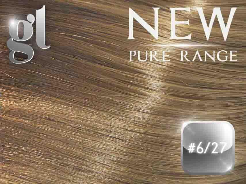 #6/27 Brown/Strawberry Blonde - Nano tip – 20″ - 0.8 gram – Pure Range Highlight (25 Strands)
