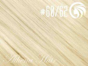 #60/62 Blonde/Light Ash Blonde – 18″ – 1 gram – uTip – Athena (25 strands per packet)