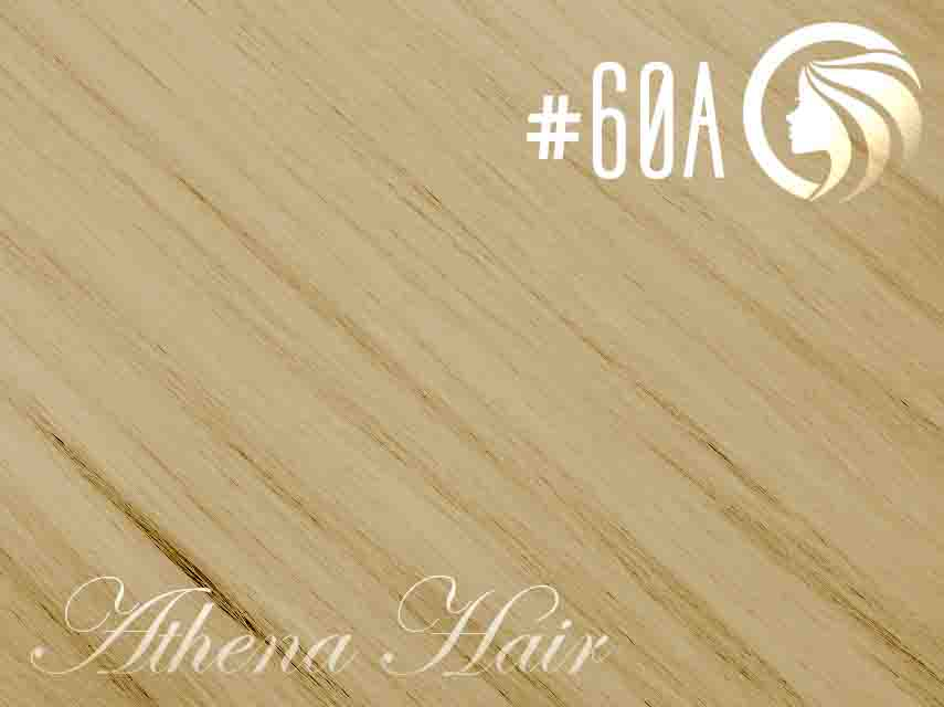 #60A Light Platinum Ash Blonde  – 18″ – 120 gram – Athena Weft