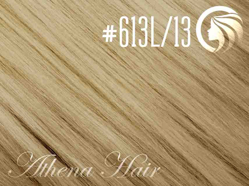 #613L/13 Light Bleach Blonde/Light Golden Brown – 18″ – 1 gram – iTip – Athena (25 strands per packet)