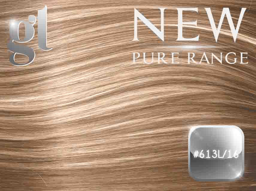 #613L/16 Light Bleach Blonde/Ash Blonde - Nano tip – 20″ - 0.8 gram – Pure Range Highlight (25 Strands)
