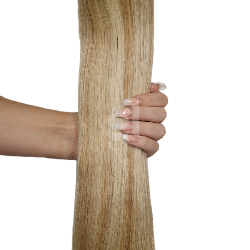 #613L/16 Light Bleach Blonde/Beige Blonde - 18″ – 0.5g – iTip – Athena (50 strands)