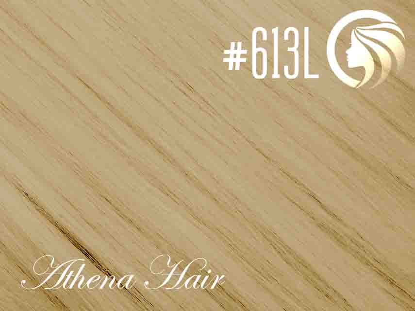 #613L Light Bleach Blonde – 18″ – 60 gram – 24 Pieces – Athena Tape Weft