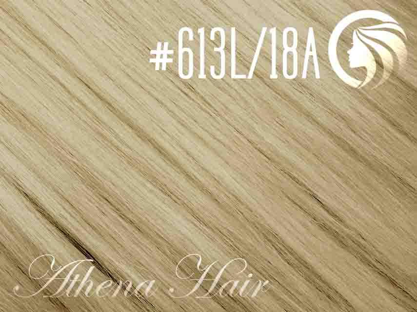 #613L/18A Light Bleach Blonde/Ash Honey Blonde – 18″ – 1 gram – iTip – Athena (25 strands per packet)
