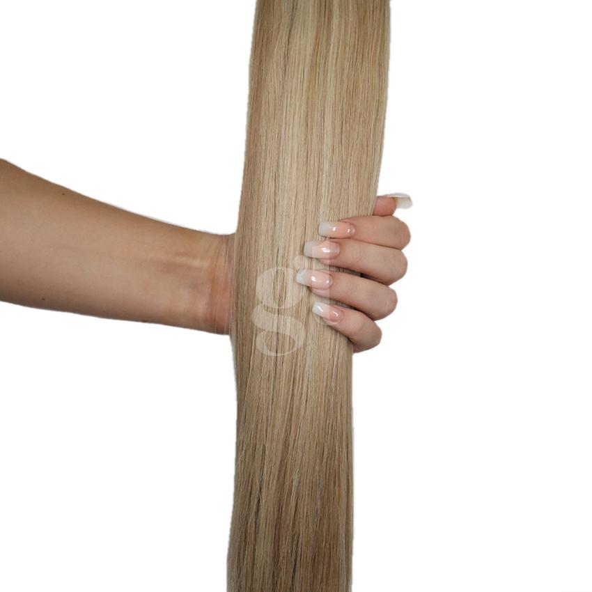 #613L/18A Light Bleach Blonde/Ash Honey Blonde - 22″ – 60g – 24pcs – Athena Tape Hair