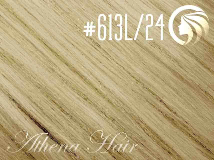 #613L/24 Light Bleach Blonde/Golden Blonde – 18″ – 120 gram – Athena Weft