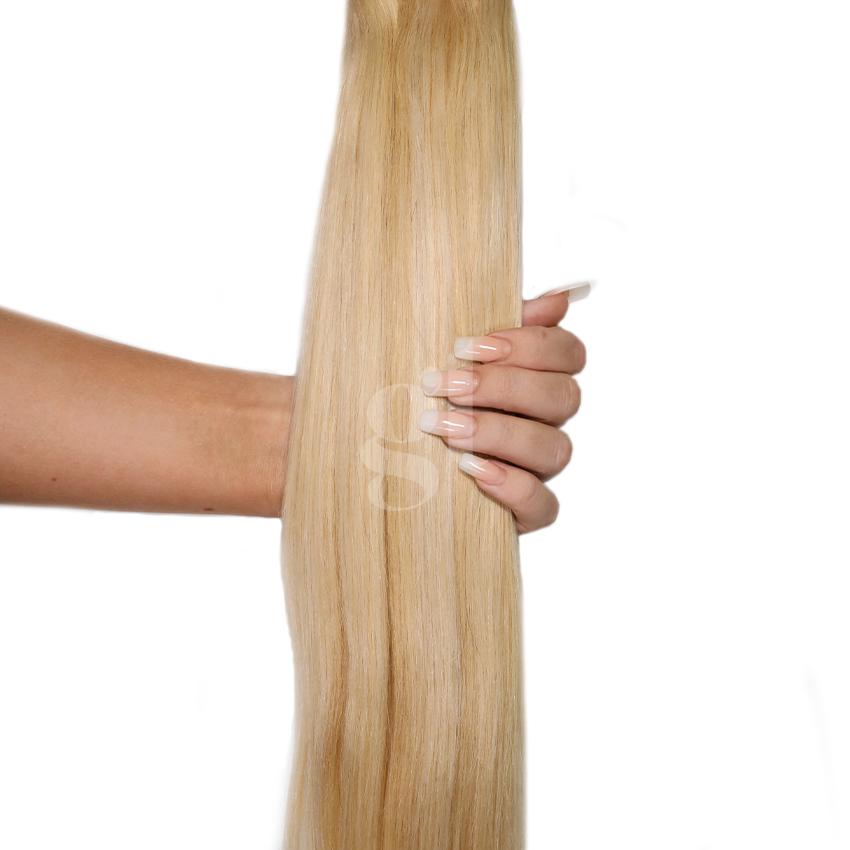 *NEW* #613L/24 Light Bleach Blonde/Golden Blonde - 22″ – 60g – 24pcs – Athena Tape Hair