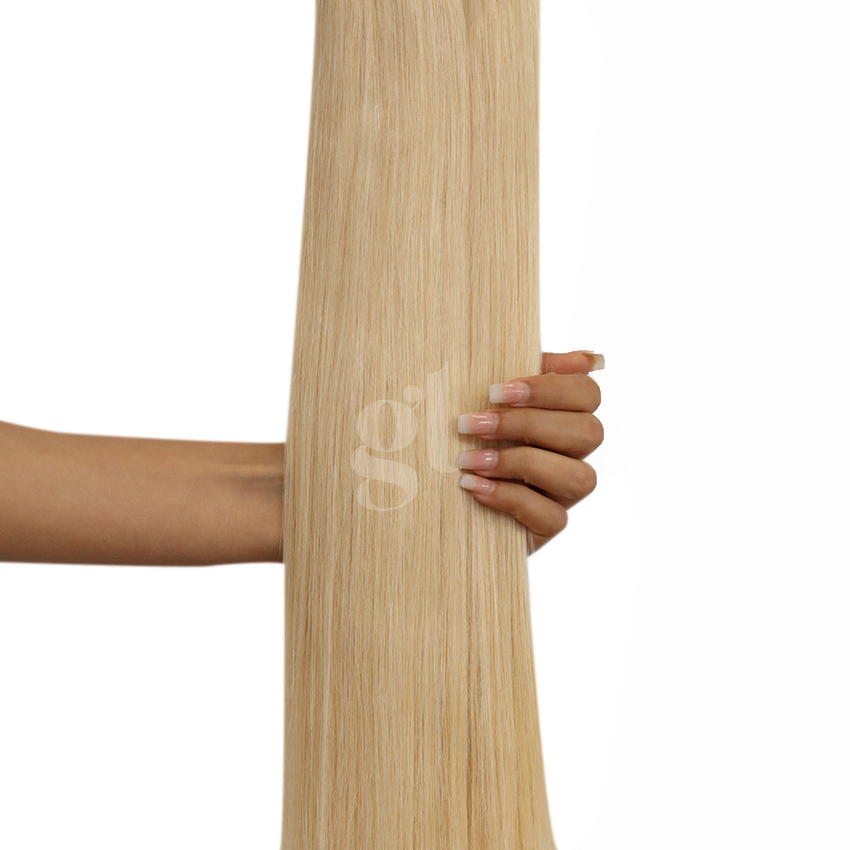 *NEW* #613L Light Bleach Blonde – 22″ – 300g – 10 Pieces – GL Seamless Remy Clip Ins