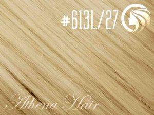 #613L/27 Light Bleach Blonde/Strawberry Blonde – 18″ – 1 gram – Nano Tip – Athena (25 strands per packet)