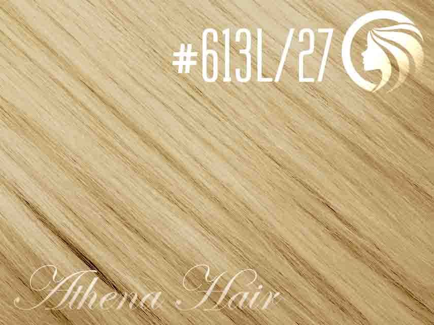#613L/27 Light Bleach Blonde/Strawberry Blonde – 18″ – 1 gram – iTip – Athena (25 strands per packet)