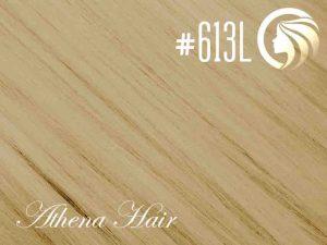 #613L Light Bleach Blonde – 18″ – 0.5 gram – uTip – Athena (50 strands per packet)