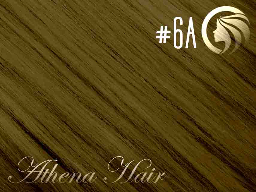 *NEW* #6A Medium Ash Brown – 18″ – 120g – 5 Pieces – Clip Ins Athena Hair