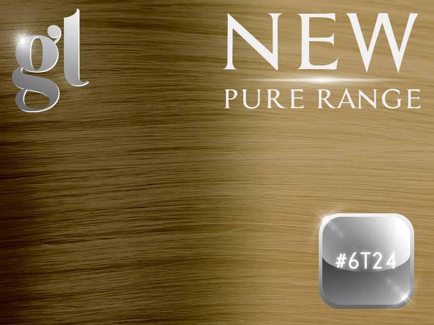 #6T24 Brown/Golden Blonde (NEW Nano tip) – 20″ - 0.8 gram – Pure Range Ombre (25 Strands)
