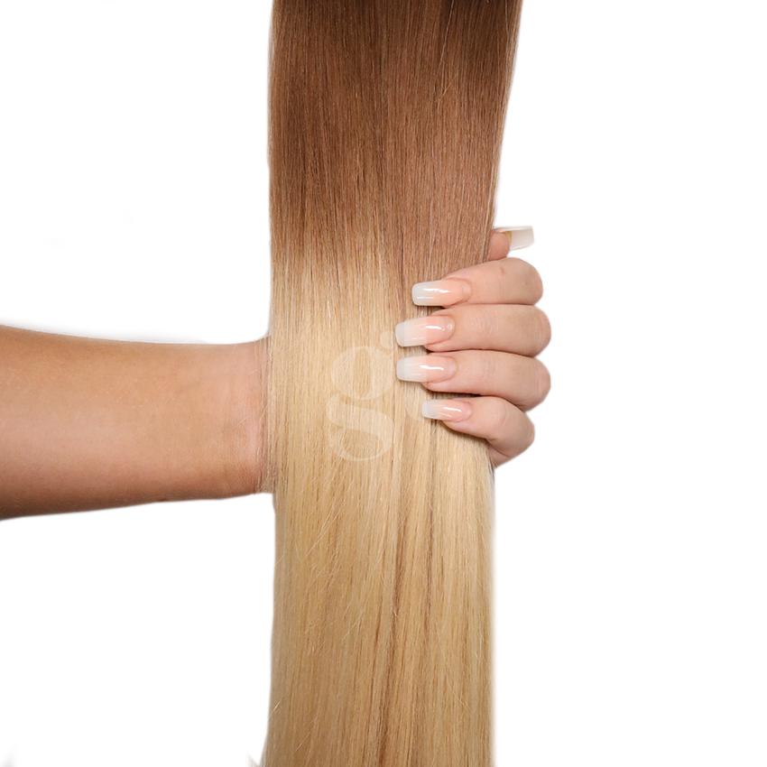 #6T24 Brown/Golden Blonde - 18″ – 1g – uTip – Athena (25 strands)
